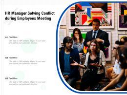HR Manager Solving Conflict During Employees Meeting
