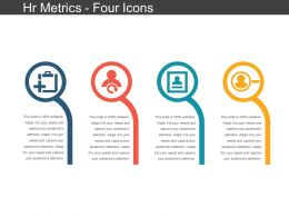 Hr Metrics Four Icons Ppt Slides Download