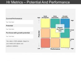 Hr Metrics Potential And Performance Presentation Slides