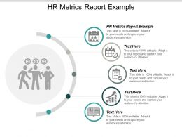 HR Metrics Report Example Ppt Powerpoint Presentation Ideas Maker Cpb