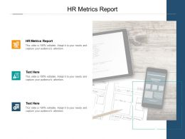 HR Metrics Report Ppt Powerpoint Presentation Icon Model Cpb
