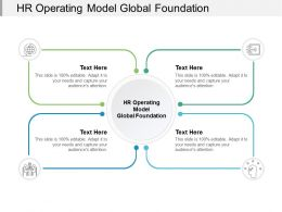 HR Operating Model Global Foundation Ppt Powerpoint Presentation Outline Clipart Images Cpb