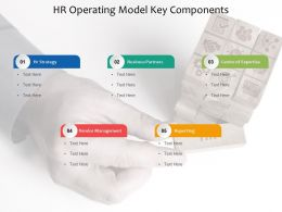 HR Operating Model Key Components