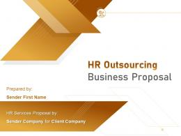 HR Outsourcing Business Proposal Powerpoint Presentation Slides