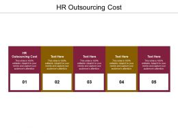 HR Outsourcing Cost Ppt Powerpoint Presentation Icon Show Cpb