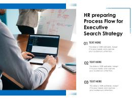 HR Preparing Process Flow For Executive Search Strategy