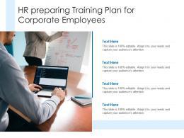 HR Preparing Training Plan For Corporate Employees
