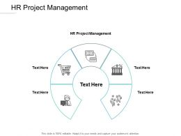 HR Project Management Ppt Powerpoint Presentation Portfolio Brochure Cpb