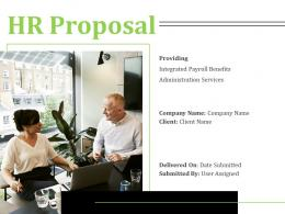 HR Proposal Powerpoint Presentation Slides