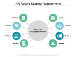 HR Record Keeping Requirements Ppt Powerpoint Presentation Ideas Download Cpb