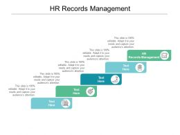 HR Records Management Ppt Powerpoint Presentation Gallery Graphics Example Cpb