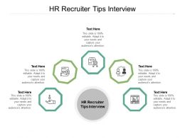 HR Recruiter Tips Interview Ppt Powerpoint Presentation Ideas Graphics Download Cpb