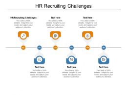 HR Recruiting Challenges Ppt Powerpoint Presentation File Skills Cpb