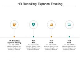 HR Recruiting Expense Tracking Ppt Powerpoint Presentation Ideas Styles Cpb