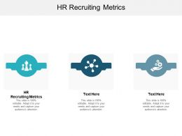 HR Recruiting Metrics Ppt Powerpoint Presentation Pictures Examples Cpb