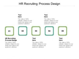 HR Recruiting Process Design Ppt Powerpoint Presentation Ideas Themes Cpb