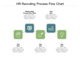 HR Recruiting Process Flow Chart Ppt Powerpoint Portfolio Graphics Template Cpb