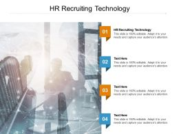 HR Recruiting Technology Ppt Powerpoint Presentation Gallery Model Cpb