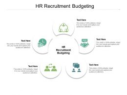 HR Recruitment Budgeting Ppt Powerpoint Layouts Designs Download Cpb