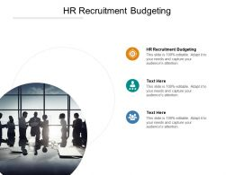 HR Recruitment Budgeting Ppt Powerpoint Presentation Gallery Portrait Cpb