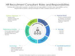 HR Recruitment Consultant Roles And Responsibilities