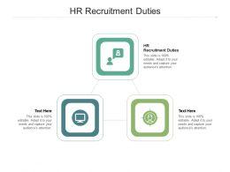 HR Recruitment Duties Ppt Powerpoint Presentation Ideas Designs Cpb