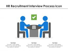 HR Recruitment Interview Process Icon