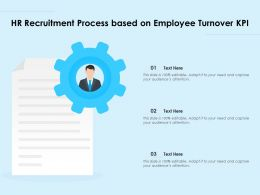 HR Recruitment Process Based On Employee Turnover KPI