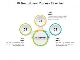 HR Recruitment Process Flowchart Ppt Powerpoint Presentation Professional Graphics Design Cpb