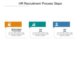 HR Recruitment Process Steps Ppt Powerpoint Presentation Gallery Graphics Cpb