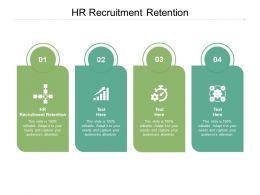 HR Recruitment Retention Ppt Powerpoint Presentation Gallery Slide Cpb