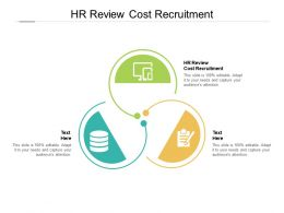 HR Review Cost Recruitment Ppt Powerpoint Presentation Inspiration Graphics Download Cpb