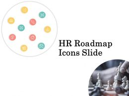 Hr Roadmap Icons Slide Chess Ppt Powerpoint Presentation Visual Aids Backgrounds