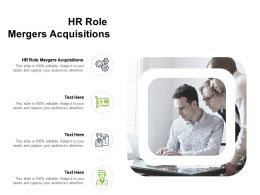 HR Role Mergers Acquisitions Ppt Powerpoint Presentation Visual Aids Slides Cpb