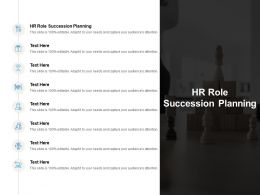 HR Role Succession Planning Ppt Powerpoint Presentation Ideas Example Introduction Cpb