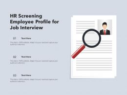 HR Screening Employee Profile For Job Interview