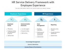 HR Service Delivery Framework With Employee Experience