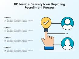 HR Service Delivery Icon Depicting Recruitment Process