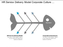Hr Service Delivery Model Corporate Culture Issues Financial Modeling Cpb