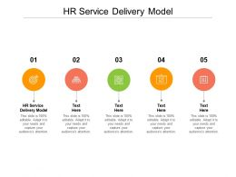 Hr Service Delivery Model Ppt Powerpoint Presentation Professional Smartart Cpb