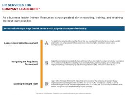 HR Services For Company Leadership Ppt Powerpoint Presentation Summary Background Image