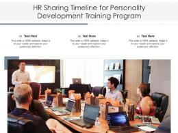 HR Sharing Timeline For Personality Development Training Program