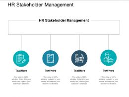HR Stakeholder Management Ppt Powerpoint Presentation Icon Samples Cpb