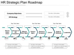 Hr Strategic Plan Roadmap Ppt Sample Download
