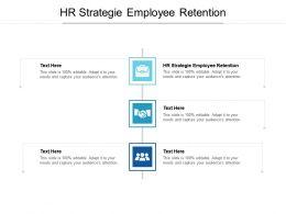 HR Strategie Employee Retention Ppt Powerpoint Presentation Icon Graphics Tutorials Cpb