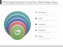 Hr Strategy Execution Powerpoint Slide Design Ideas