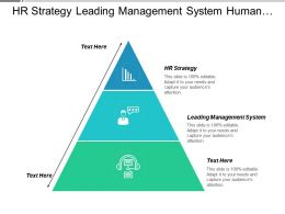 Hr Strategy Leading Management System Human Resource Strategy Cpb