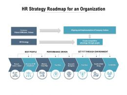 HR Strategy Roadmap For An Organization