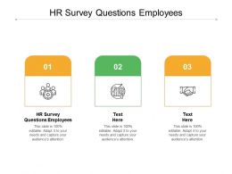 HR Survey Questions Employees Ppt Powerpoint Presentation Gallery Portrait Cpb