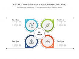 HR SWOT Powerpoint For Influence Projection Array Infographic Template